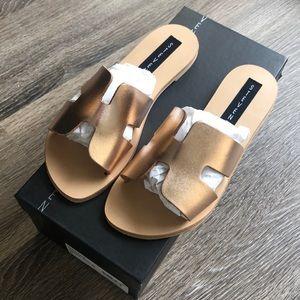 STEVEN by Steve Madden Greece Sandals in Rose Gold